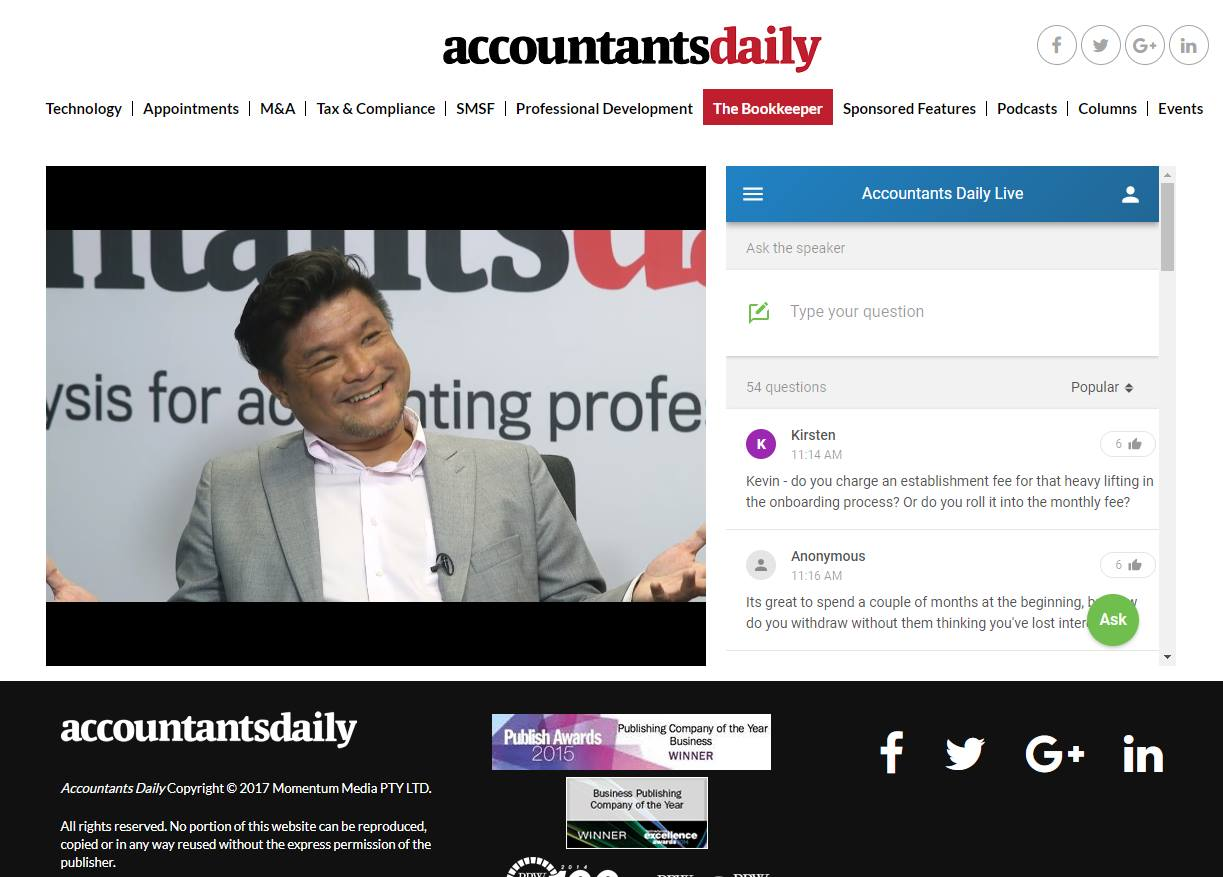 Accountants Daily Screengrab